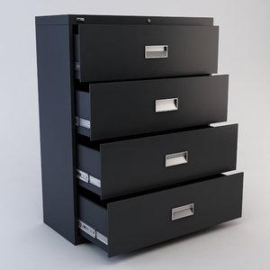 drawer file cabinet 3d model