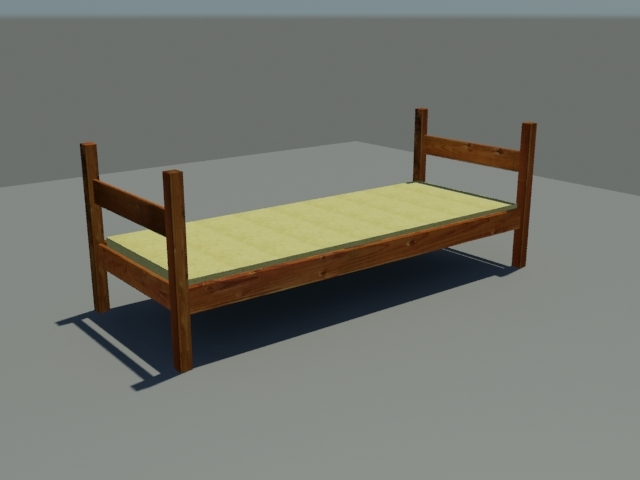 free bed 3d model