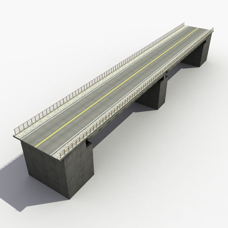 3d model overpass bridge