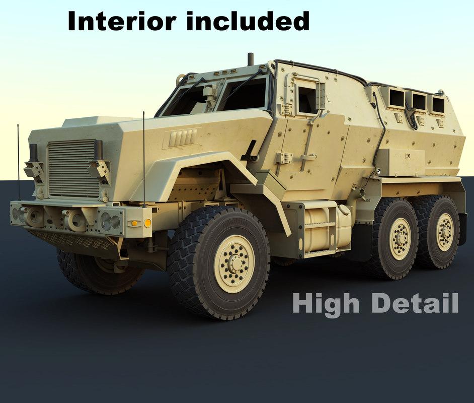 caiman mrap vehicle 3d max