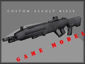 3d custom rifle model