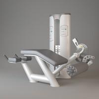 gym trainer 3d model