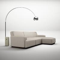 max living lamp modern sofa