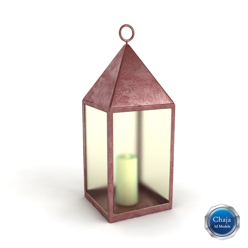 3d lantern lamp light