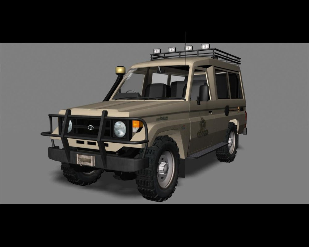 3d model toyota land cruiser 70