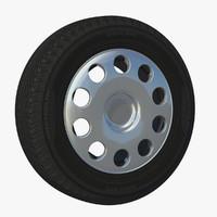3d wheel new motor rim model