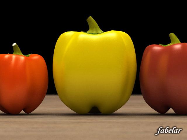 pepper sweetpepper 3d 3ds