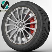3d wheel mercedes cls model