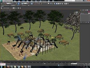 3d model of park modeled