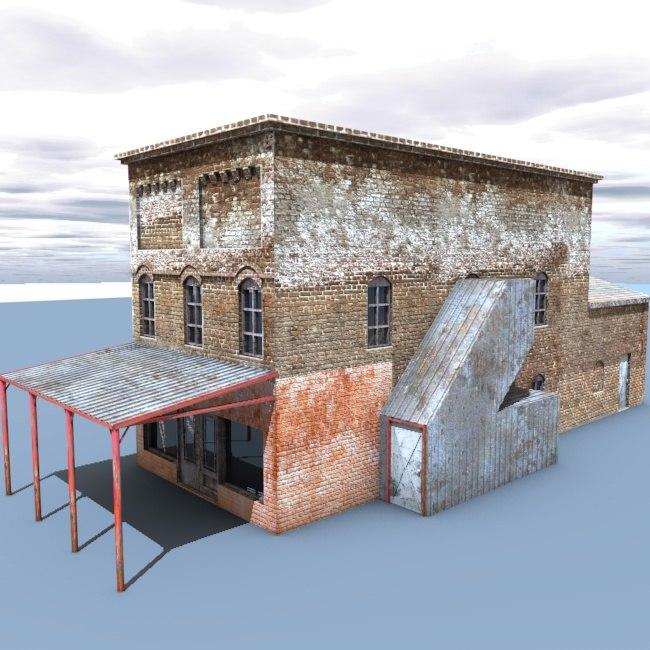 3d old building model