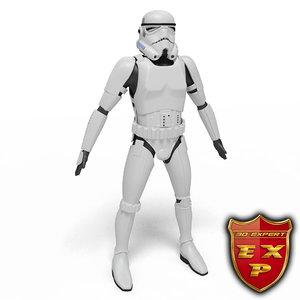3ds trooper robot