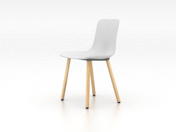 hal wood chair 3d model