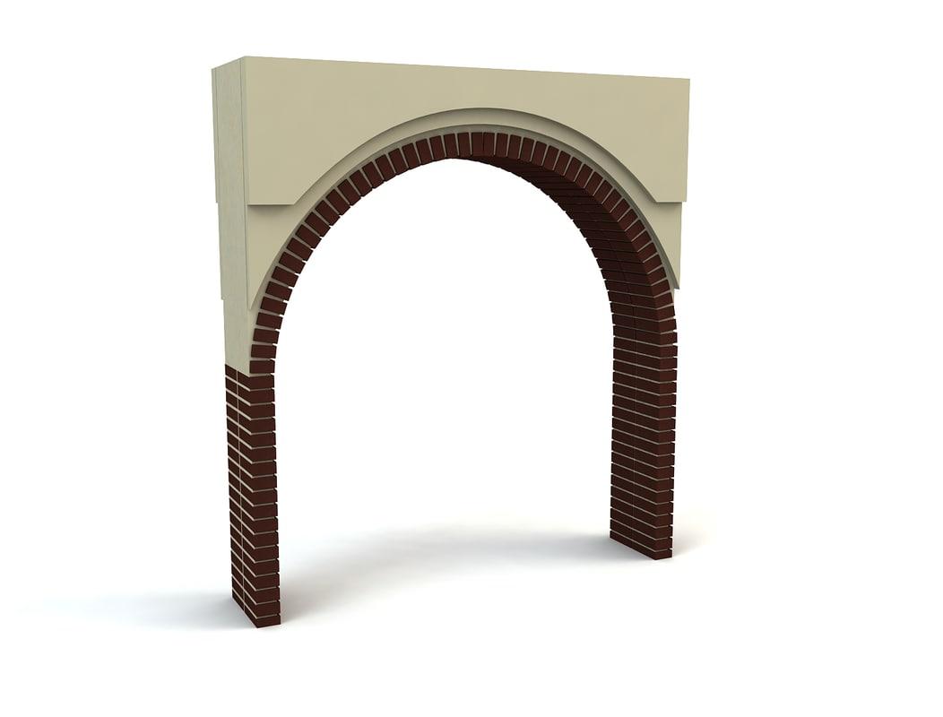 3ds max brick arch