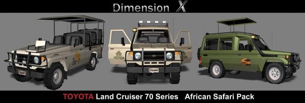 3d model of toyota land cruiser 70