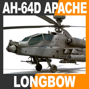 3ds max boeing ah-64d apache longbow