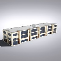 3dsmax modern generic building architectural