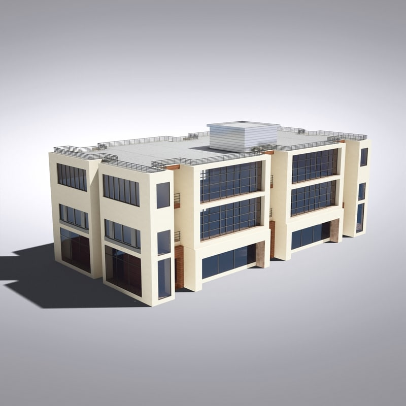 3d model of modern generic building