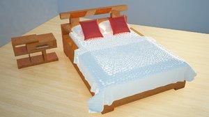 bed lap table 3d model