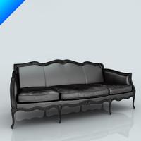 3ds max black lucrezia sofa seat
