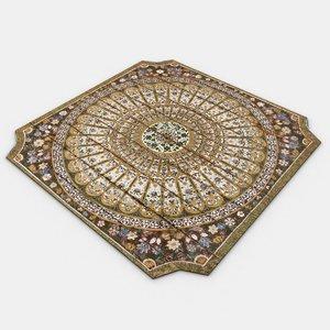 free gen persian carpet 3d model