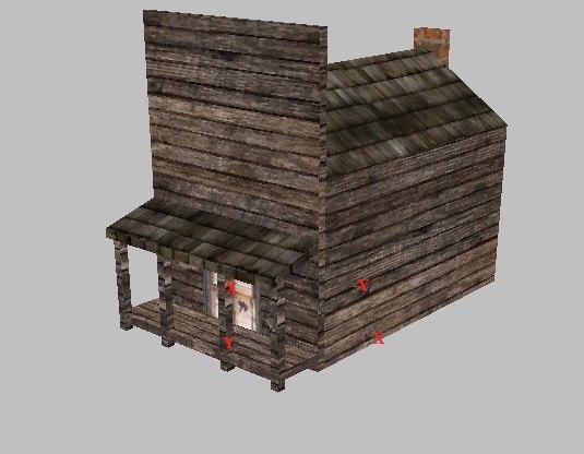 3d model house west