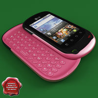 LG C550 Optimus Chat Pink