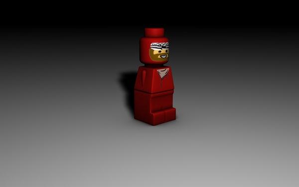 3d model lego microfigure