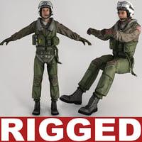 Military Pilot V3 Rigged