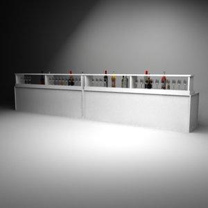 3d model modulart bar