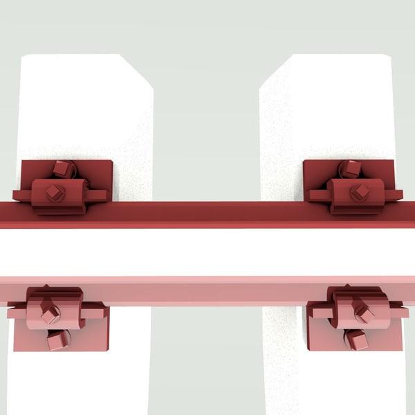 3d model real rail track