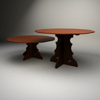 3d model red wood table