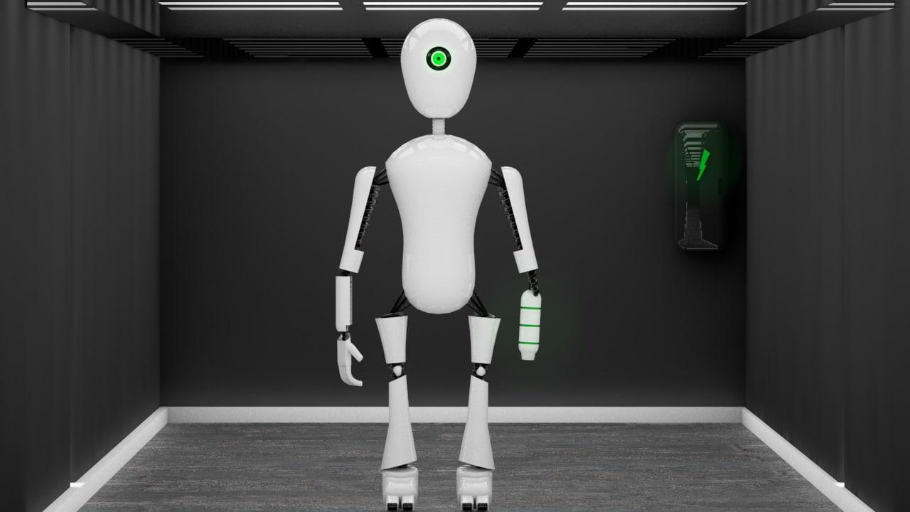 robot green c4d