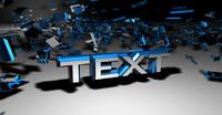 cinema4d exploded text