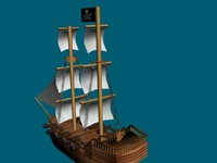 sails pirate 3d model