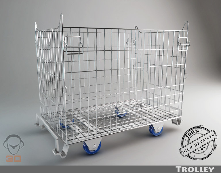 3ds max trolley