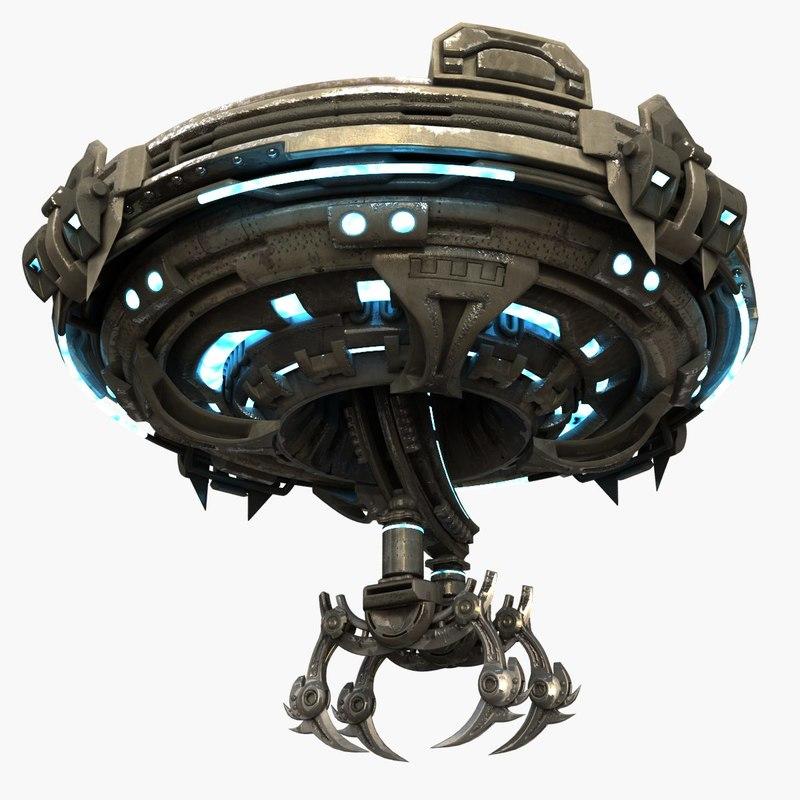 3d max alien spacecraft