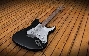 3d fender stratocaster guitar
