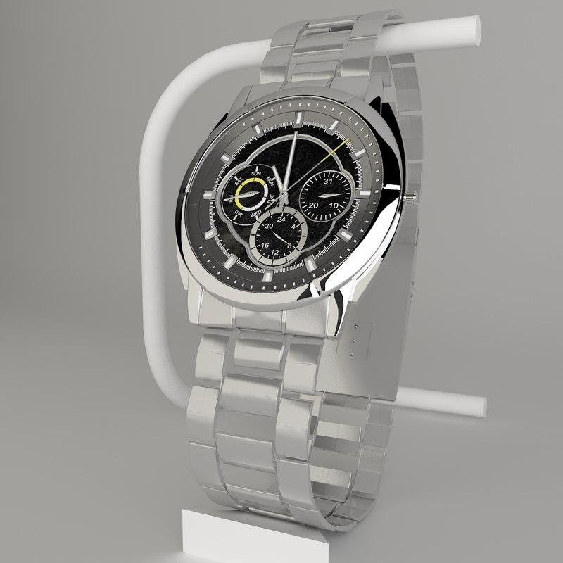 casio edifice watch 3d model