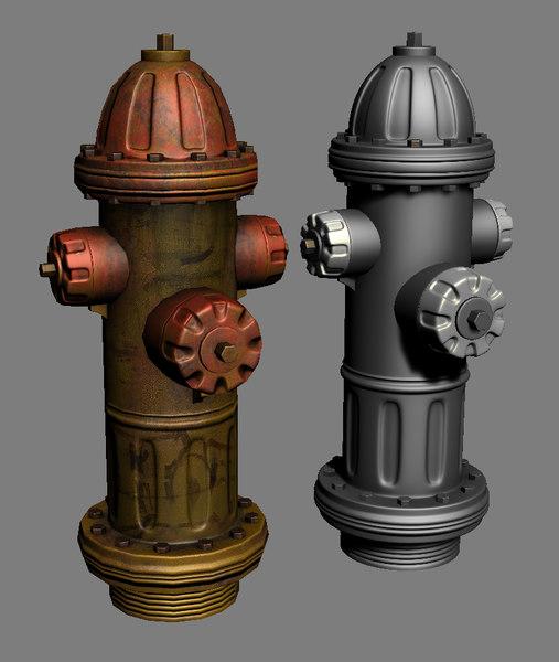 3dsmax hydrant prop
