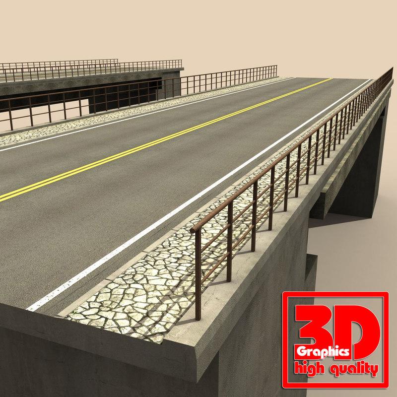 roads bridges 3d model