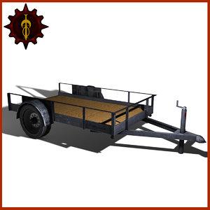 trailer utility 3d model