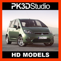 3d model mitsubishi colt car