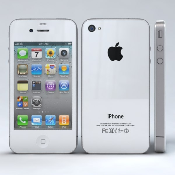 apple iphone 4 4s 3d model