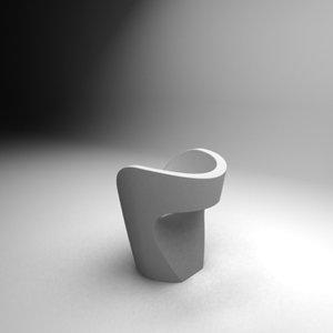 moroso chair 3d max