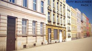 3d model - city buildings