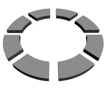 3d broken ring animation