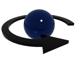 arrow sphere 3d max