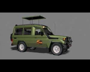 toyota land cruiser 70 3d model