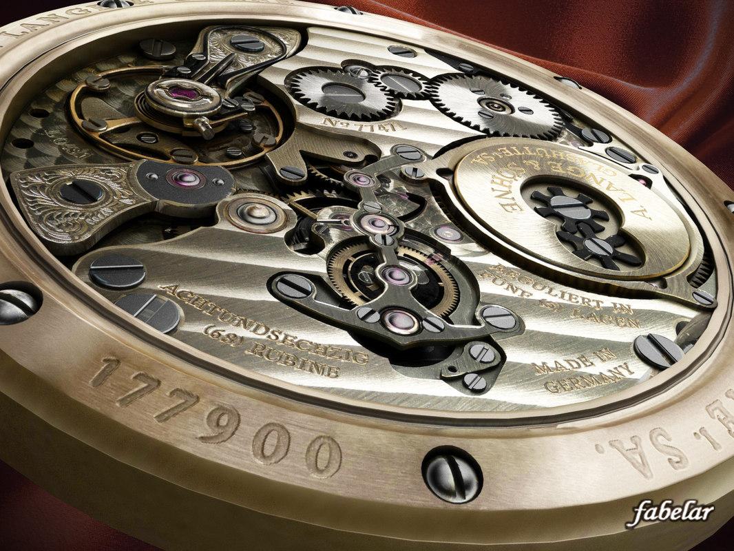 lange watch 3d x
