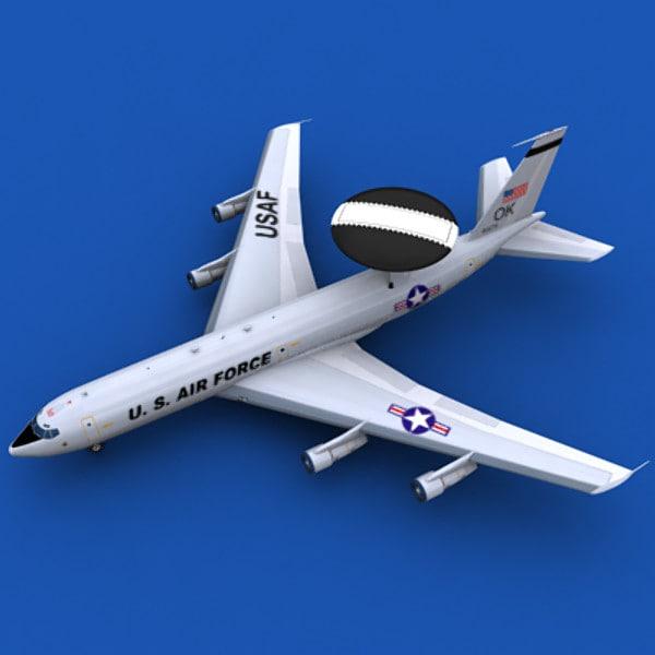 3dsmax aircraft awacs usaf